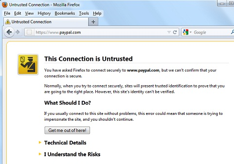 Firefox 9 - This Connection is Untrusted