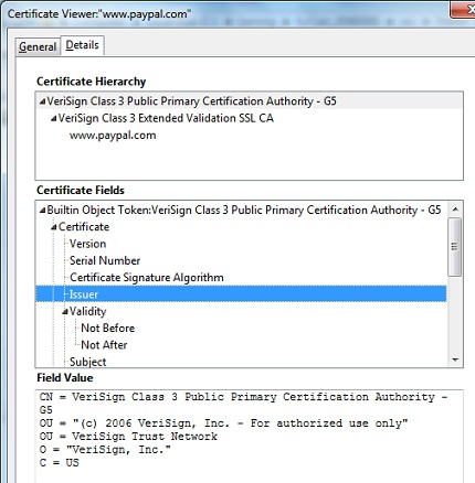 Firefox - View Server Certificate Path
