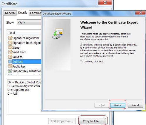 Google Chrome - Export CA Certificate from Google Chrome to File