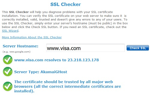 sslshopper SSL Checker