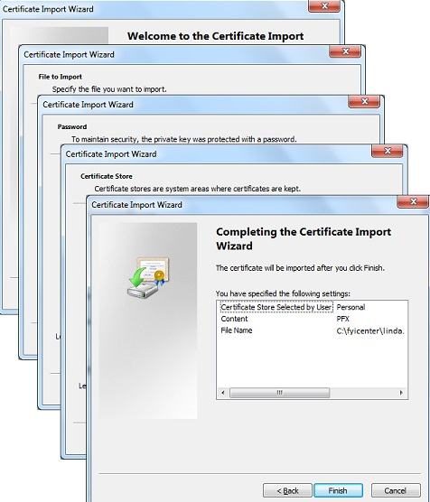 certmgr.msc - Import Personal Certificate