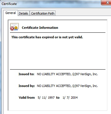 certmgr.msc - View Certificate - General Tab