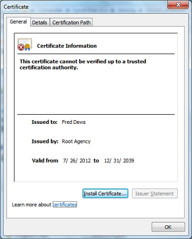 makecert.exe - Create Test Certificate