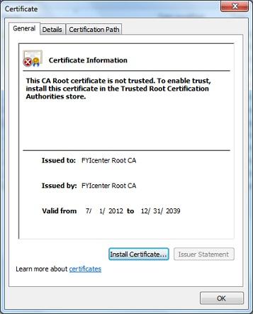 Internet Security Certificate Information Center: Microsoft