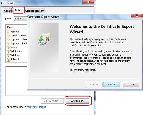 Safari - Export Server Certificate